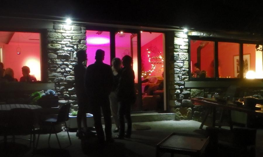 Cowshed venue at night